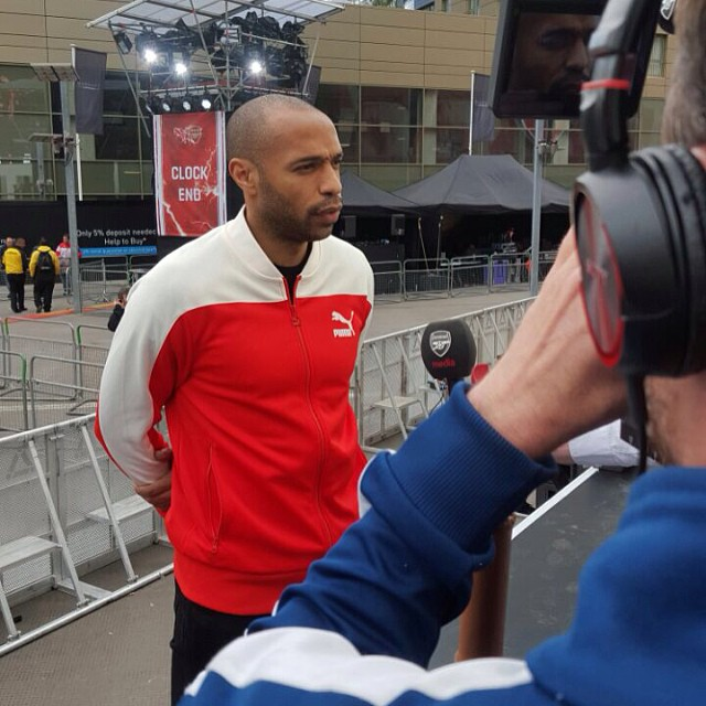 8700750c906 ... Arsenal Home Kit 2015 2016 Thierry Henry