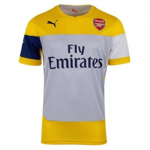 newest 78521 7057d Arsenal Training Kit | Arsenal Yellow Training Top 2014 - 2015