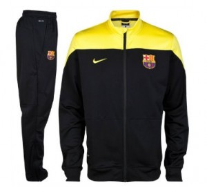 Barcelona Black And Yellow Sideline Tracksuit