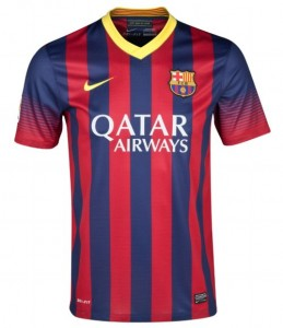Barcelona Boys Home Shirt