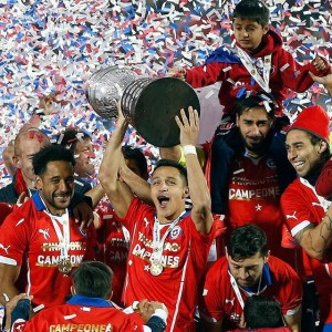 Chile Win 2015 Copa America Trophy