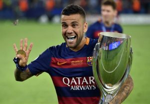 Dani Alves a Pioneer of Right Side Defensive Football Trophies