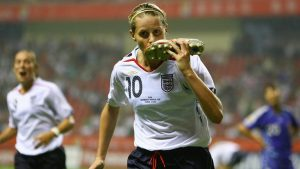 Departure of Once in a Lifetime Striker - Kelly Smith Kisses Boot