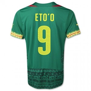 Eto'o 9 Cameroon 2014 World Cup Home Shirt