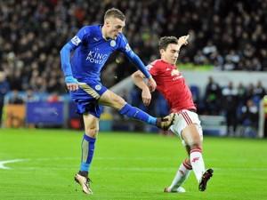 Jamie Vardy Scores Against MUFC