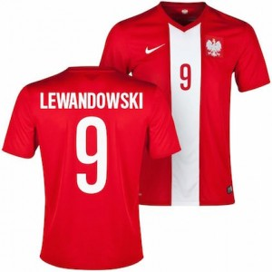 Lewandowski Poland Away Shirt 2014 - 2015