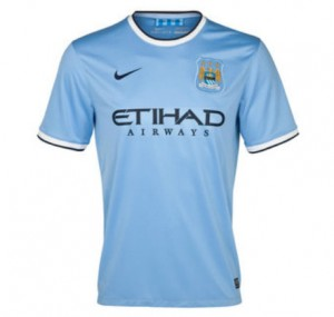 Manchester City Boys Home Jersey 2013 - 2014