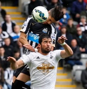 Newcastle United v Swansea City 250415 Perez
