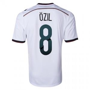 d92cafe92 ... Ozil 8 Germany 2014 World Cup Home Jersey