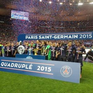 PSG Coupe de France 2015 Champions Quadruple