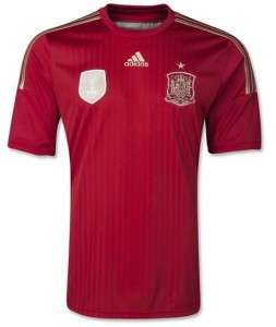 Spain 2014 FIFA World Cup Home Soccer Jersey