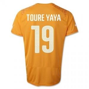 Toure 19 Ivory Coast 2014 World Cup Home Shirt