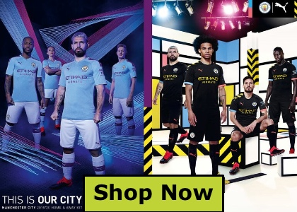 Man City football kit 2019/20