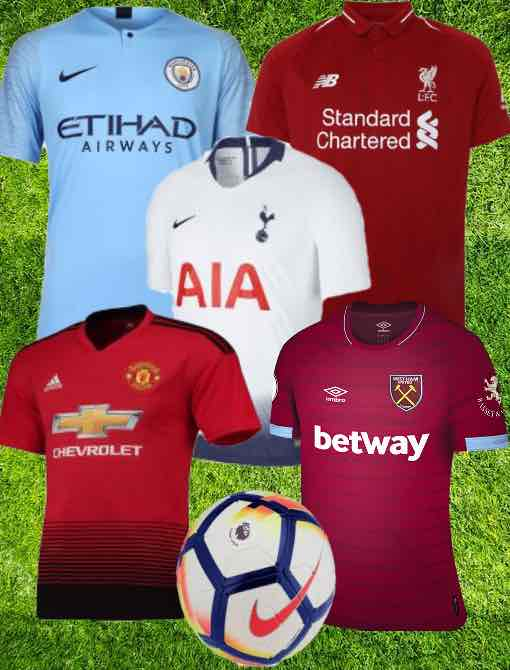 Premier League Kit 2018/19 Christmas Gifts