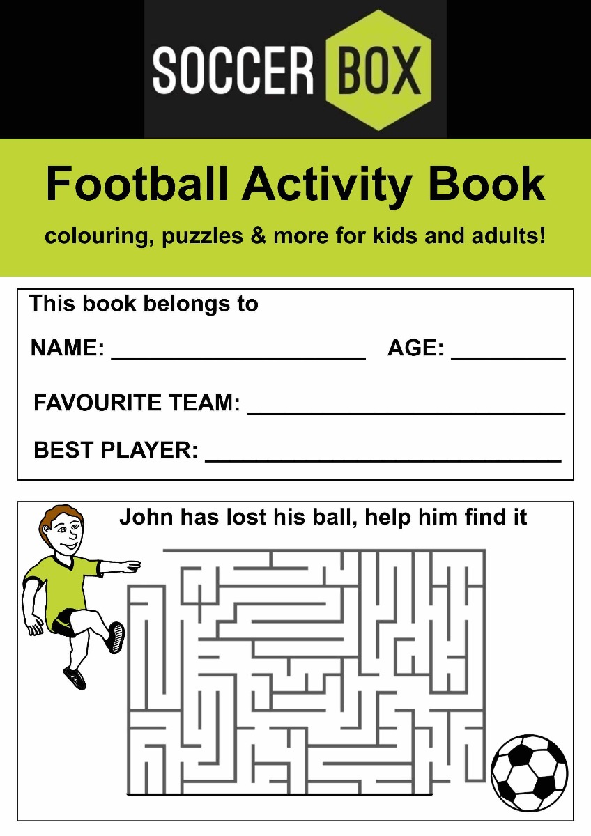 Front Page of the activity book