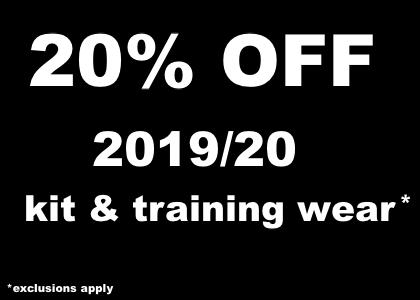 20% off 2019/20 kit