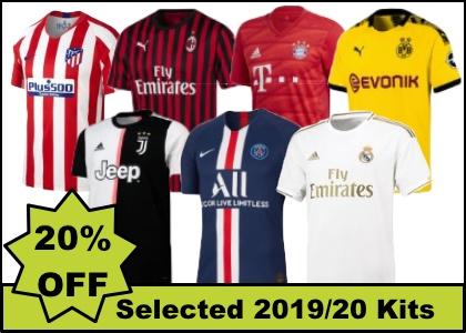 20% off club team kits