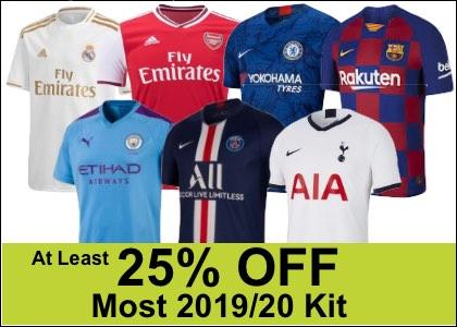 25% off 2019/20 kit