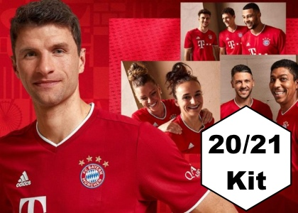 20/21 Bayern Munich home kit in stock now