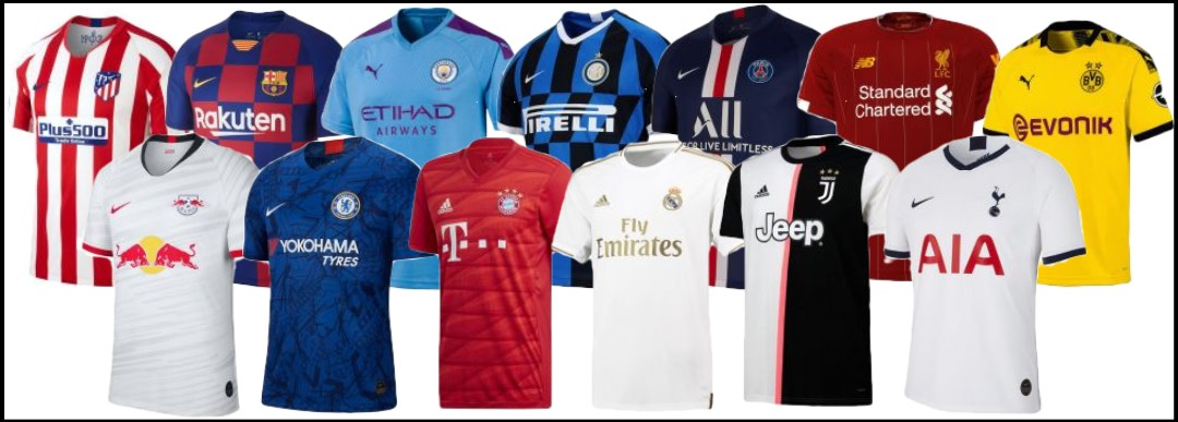 Champions League football kit