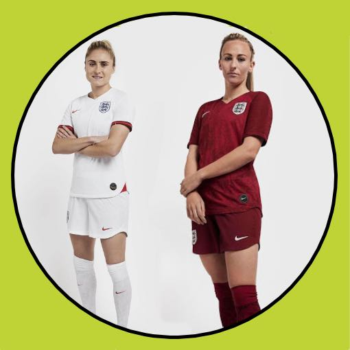 England Women's 2019 Home & Away Kit