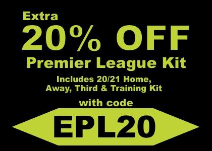 20% OFF 20/21 Premier League Kit