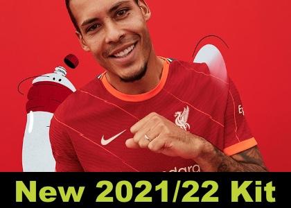 Liverpool 21/22 home kit