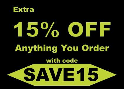 15% OFF discount code