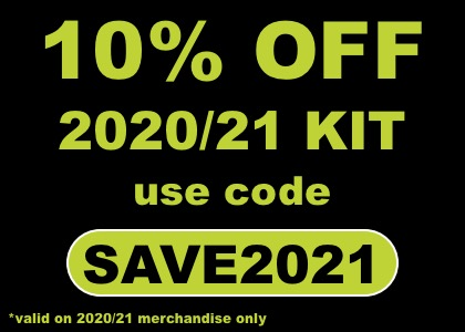 Save 10% on 20/21 kit with code SAVE2021
