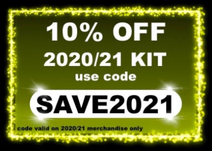 10% OFF 2020/21 kit with SAVE2021