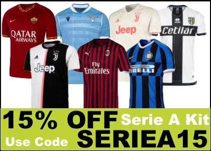 Serie A 15% OFF