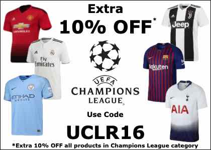 10% OFF Champions League Kits