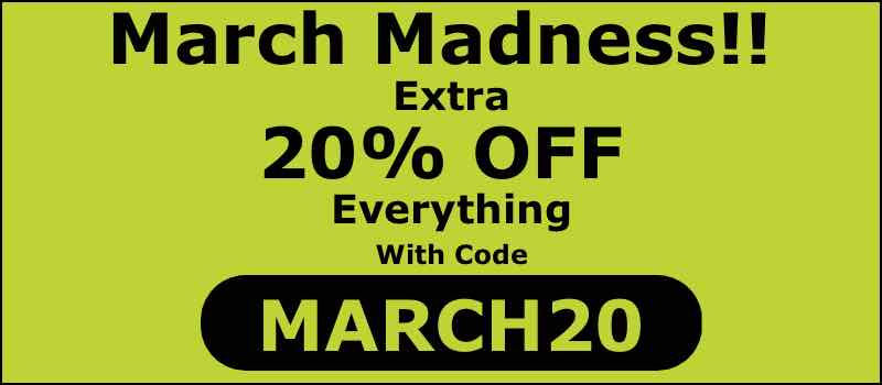 March Madness 20% OFF code