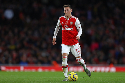 Mesut Özil playing for Arsenal FC