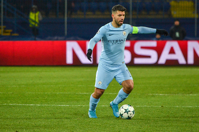 Sergio Agüero playing for MCFC