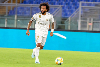 Marcelo playing football for Real Madrid