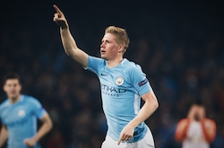 2017/18 Premier League Player of the Year Kevin de Bruyne