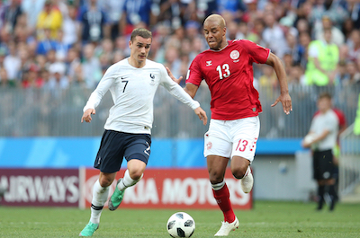 Antoine Griezmann playing for France