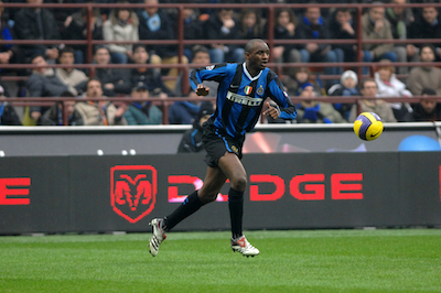 Patrick Vieira playing for Inter Milan