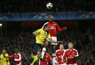 William Gallas playing for Arsenal