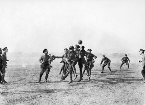 football during the war