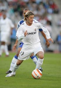 David Beckham playing for Real Madrid