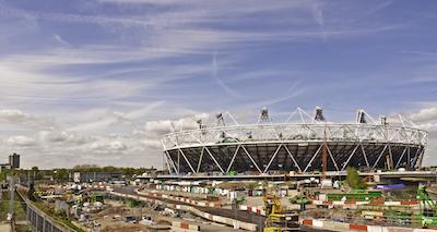 Construction of Olympic Stadium London