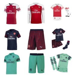 gift ideas arsenal personalised kits
