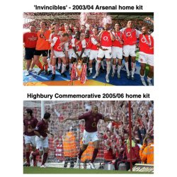 History of the Arsenal Kit Iconic Shirts