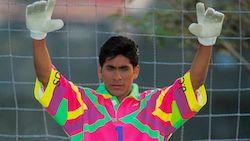 Jorge Campos Goalkeeper Extraordinaire Kit Designer Campos designed his own  ... 42b7847d5