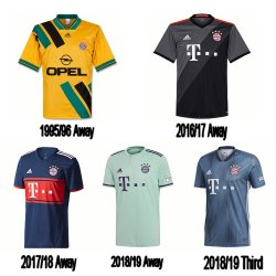 looking back at the bayern munich kits away third