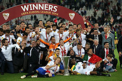 Real Betis V Sevilla Europa League 2014 Trophy